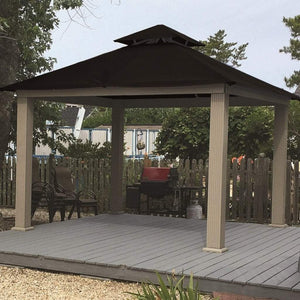 Riverstone Industries Gazebo Riverstone Industries - 14 FT SQ ACACIA SunDURA Gazebo