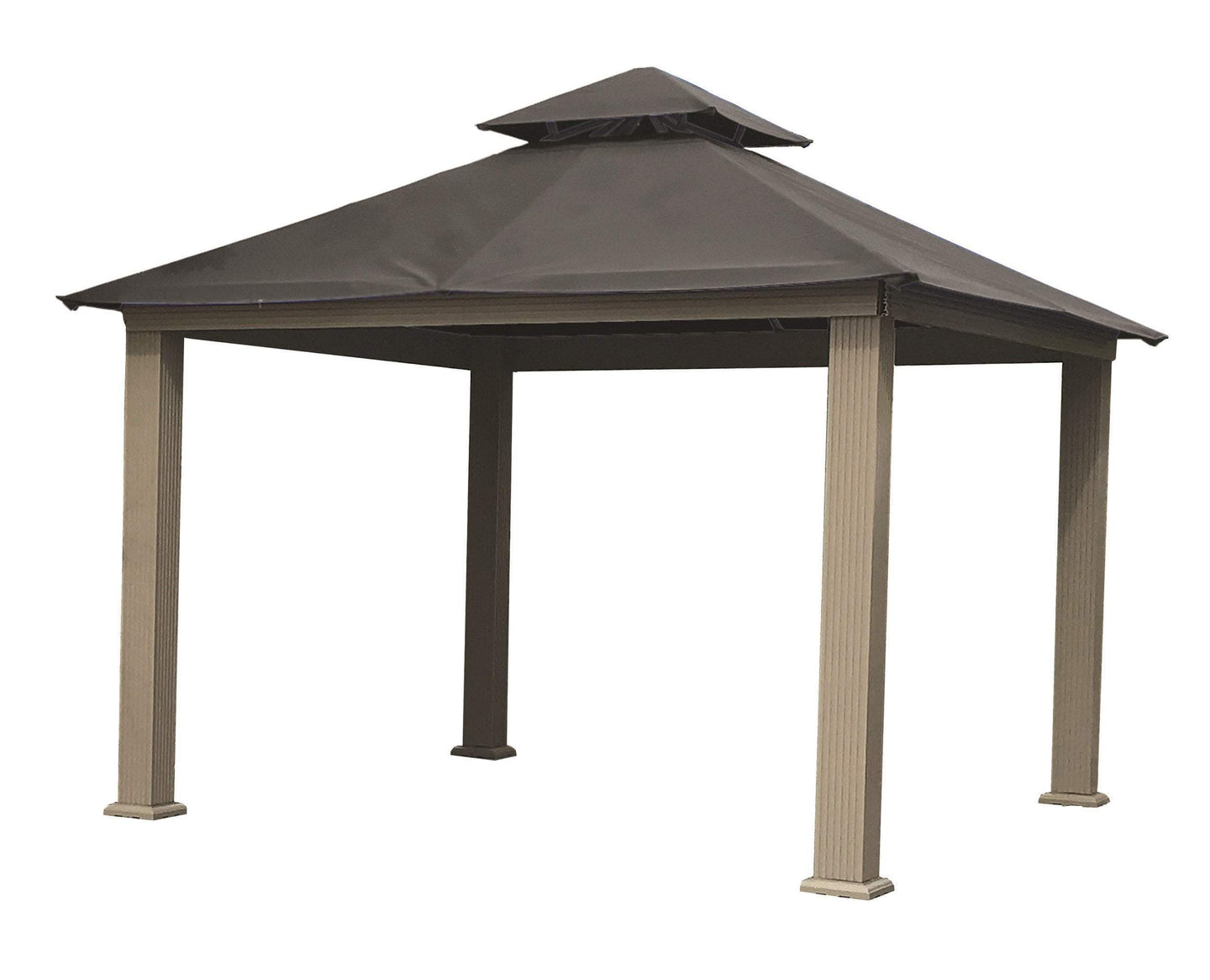 Riverstone Industries Gazebo Storm Gray Riverstone Industries - 12 FT SQ ACACIA SunDURA Gazebo