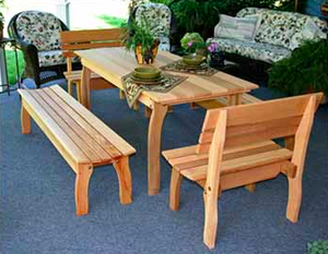 Creekvine Designs Cedar Gathering Dining Set