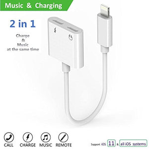 Dual iPhone Lightning Audio & Charger Adapter