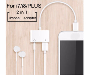 iPhone 3.5mm Jack & Lightning Charging Adapter