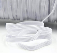 200 Yards Braided Elastic Band Flat Cord Knit 1/8 inches width (3mm) White Black, USA Stock