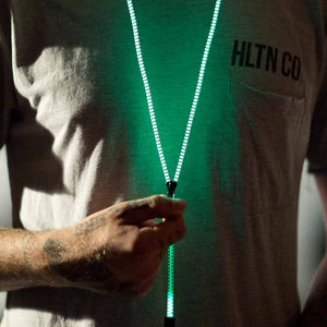 Glow in the Dark Zipper Earbuds with Mic