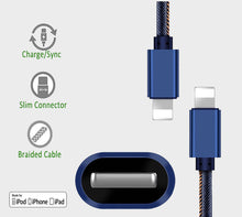 Blue Jeans Denim iPhone Charger