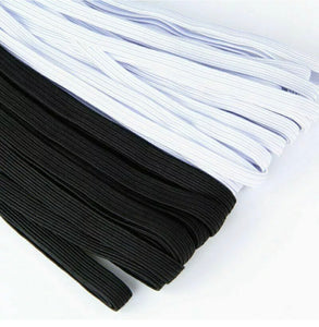 200 Yards Braided Elastic Band Flat Cord Knit 1/4 inches width (6mm) Black, USA Stock
