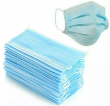 50pcs 3 Ply Disposable Face Mask Under