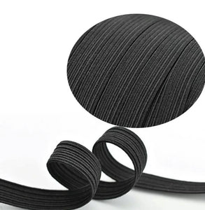 6mm 10 - 200 Yards Braided Elastic Band Flat Cord Knit 1/4 inches width Black White, USA Stock