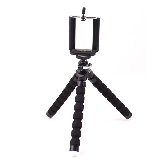 Black Mini Adjustable Cell Phone Tripod
