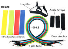 16 pc Resistance Bands Tube Set