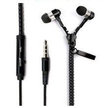 Zipper Earbuds with Microphone
