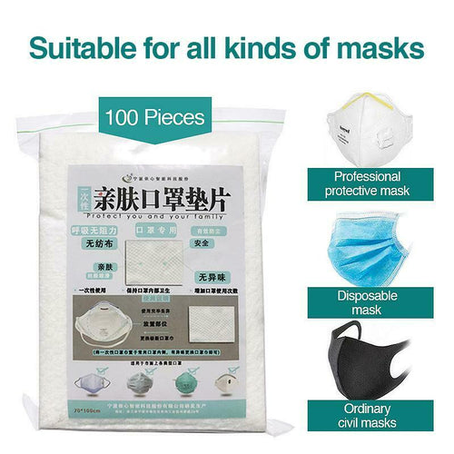 100 Pieces Cloth Face Mask Filter Replacement Pad