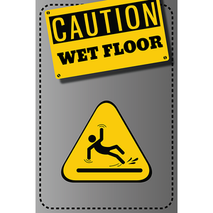 Magnet - A-Frame Sign (Caution Wet Floor 1A)