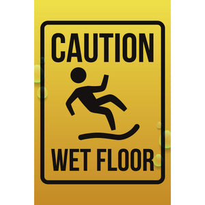 Magnet - A-Frame Sign (Caution Wet Floor 6)