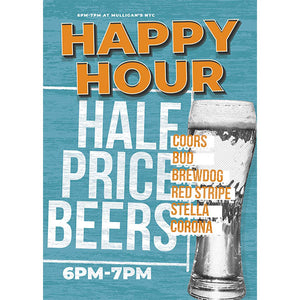 Magnet - A-Frame Sign (Happy Hour Blue)