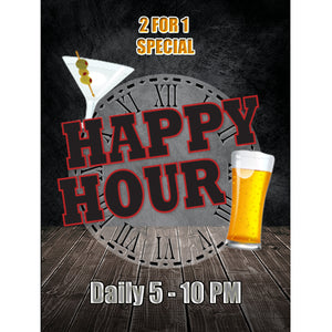 Magnet - A-Frame Sign (Happy Hour 2A)