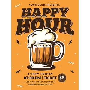 Magnet - A-Frame Sign (Happy Hour 1A)