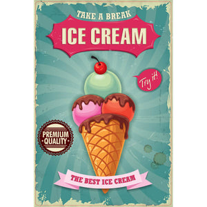 Magnet - A-Frame Sign (Ice Cream Poster)