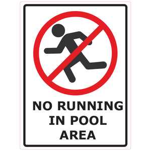 Magnet - A-Frame Sign (No Running In Pool Area)