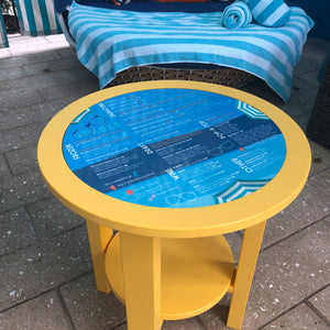Pool Deck Side Table w/ Magnetic Insert