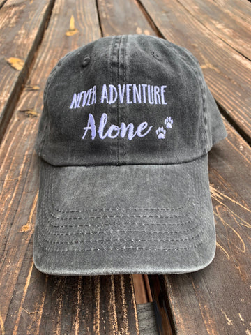 Black Never Adventure Alone Baseball Hat