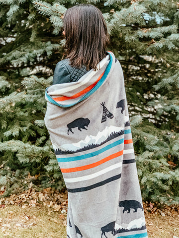 TETON - Human Throw Blanket (GRAY)