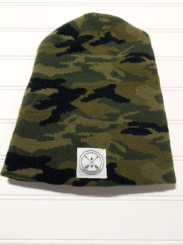 Never Adventure Alone Logo Beanie - CAMO