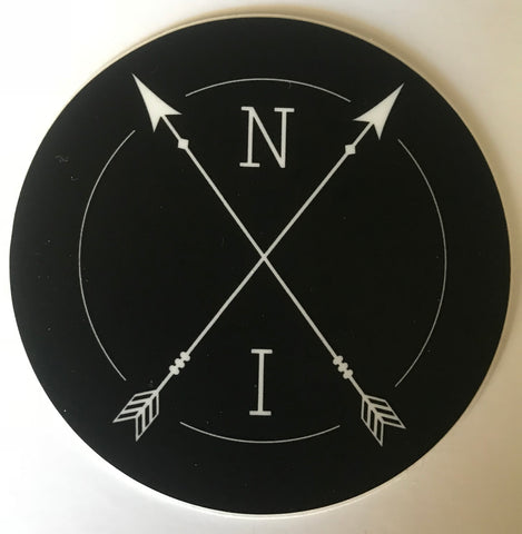 Native Instinct Round Logo Sticker