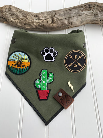 RANGER (Green)- Adjustable Dog Bandana