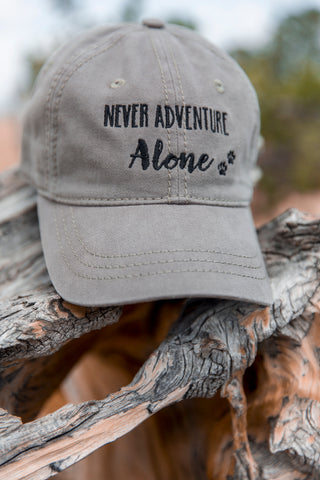 Never Adventure Alone Baseball Hat