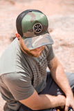 Never Adventure Alone Symbol Trucker Hat