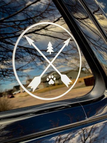 Never Adventure Alone LOGO - Car Decal