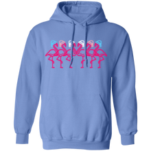 Fabulous Flamingos in Trans Colors Holidays Hats Hoodie