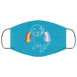 LGBTQ Dog Lovers Face Mask