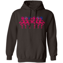 Fabulous Flamingos in Bisexual Colors Holidays Hats Hoodie