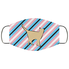 Trans Pride Cat Face Mask