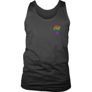 Small Rainbow Heart LGBT Tank Top