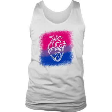 Bisexual Heart LGBT Tank Top
