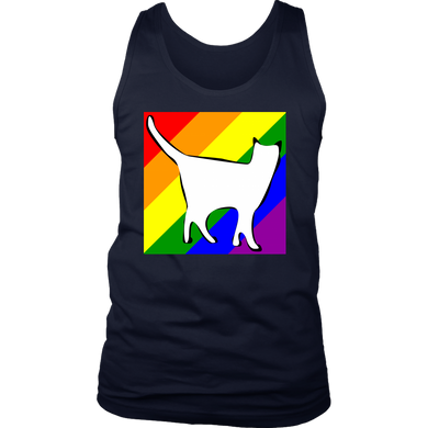 Rainbow LGBTQ+ Cat Tank Top