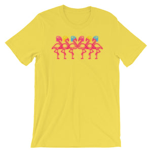 Fabulous Flamingos in Pansexual Pride Holidays Hats T-Shirt
