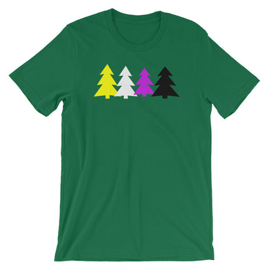 Non-binary Holigays Trees T-Shirt