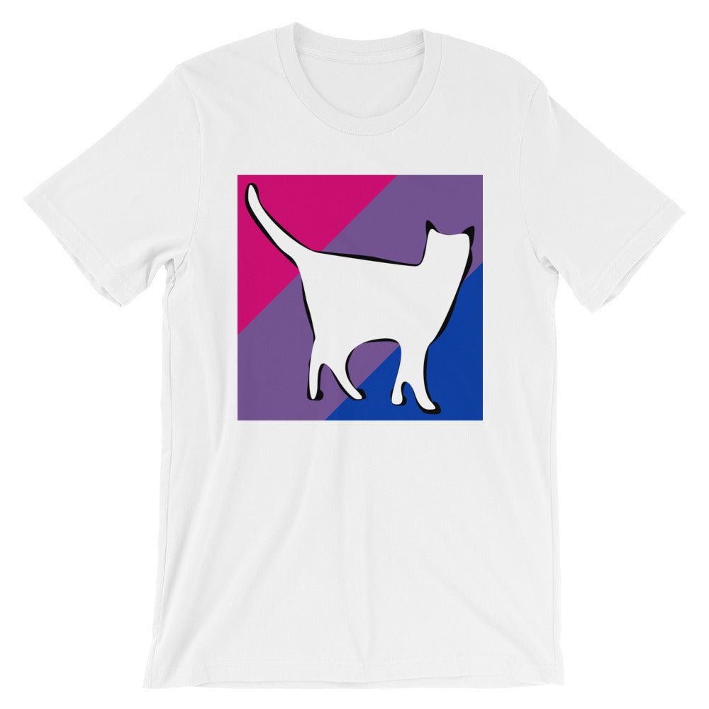 Cat Logo with Bisexual Stripes T-Shirt