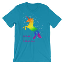 Fabulous Rainbow Unicorn Short-Sleeve Unisex T-Shirt