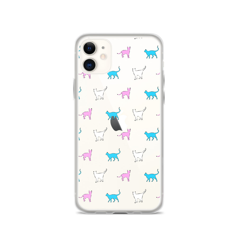 Trans Cat iPhone Case