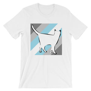 Cat Logo with Demiboy Stripes T-Shirt