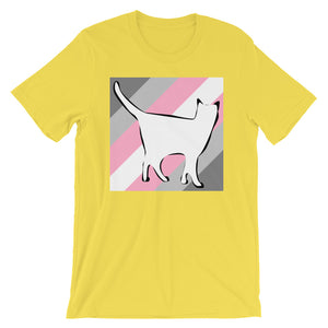 Cat Logo with Demigirl Stripes T-Shirt