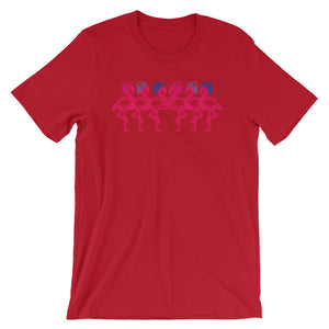 Fabulous Flamingos in Bisexual Colors Holidays Hats T-Shirt