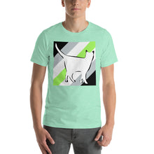 Cat Logo with Agender Stripes T-Shirt