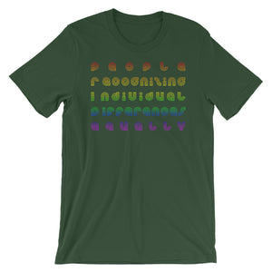 PRIDE People Recognizing Individual Differences Equally T-Shirt