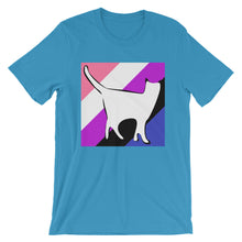 Cat Logo with GenderFluid Stripes T-Shirt