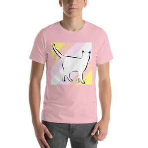 Cat Logo with Pangender Stripes T-Shirt